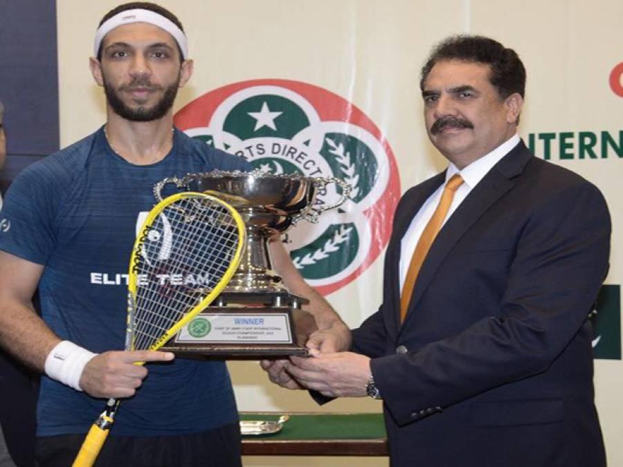 مصر کے عمر عبدالمجید نے انٹرنیشنل اسکواش چیمپئن شپ جیت لی، جنرل راحیل شریف نے انعامات تقسیم کیے