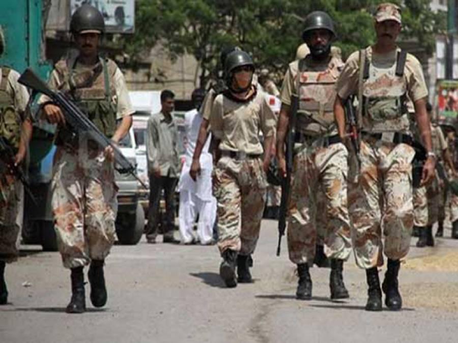 امن و امان براقرار رکھنے کے لئے رینجرز نے حیدر آباد میں سنیپ چیکنگ شروع کر دی