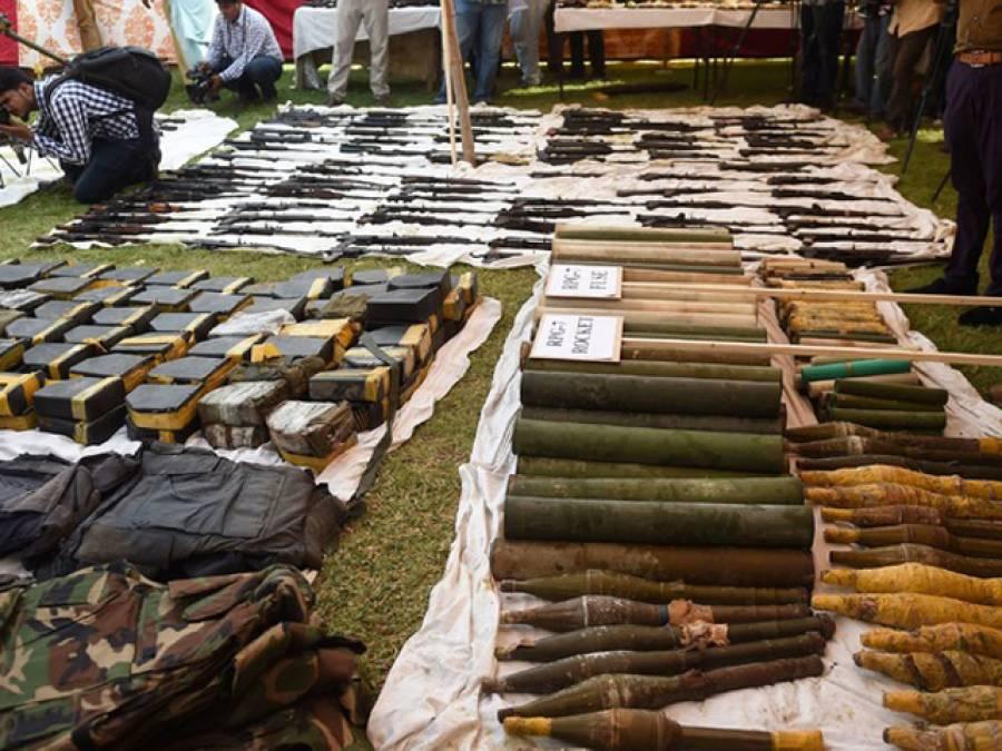 کراچی سے ملنے والا اسلحہ فوج کے سپرد