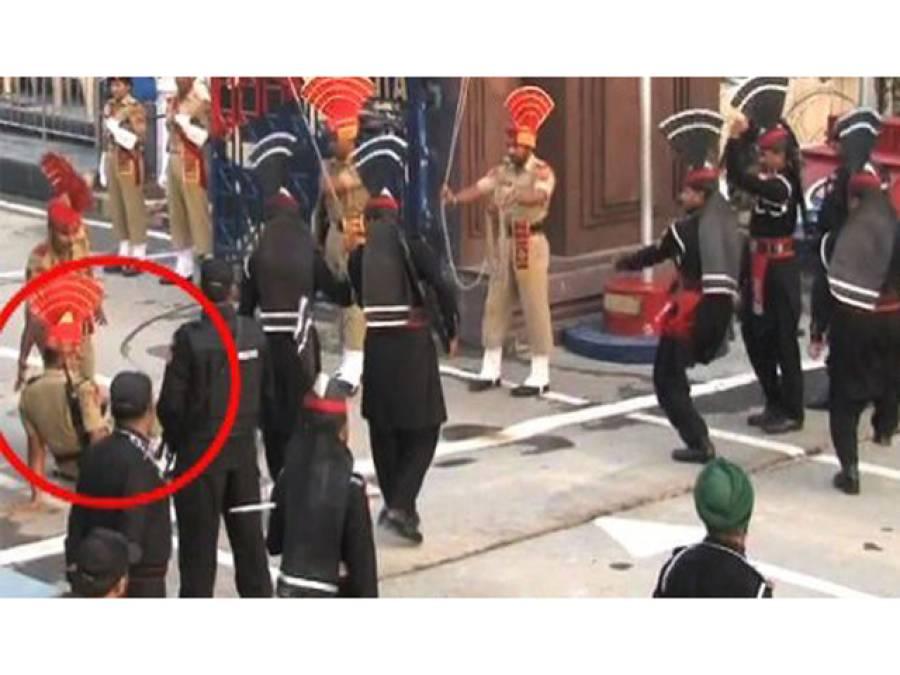 واہگہ بارڈر : نعروں کی گرج , بوٹوں کی دھمک ، 3 بھارتی فوجی لڑکھڑا کر گر پڑے