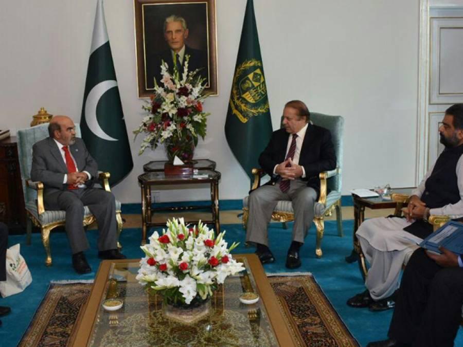 وزیراعظم نوازشریف سے ڈی جی ایف اے او کی ملاقات، مختلف امور پر تبادلہ خیال