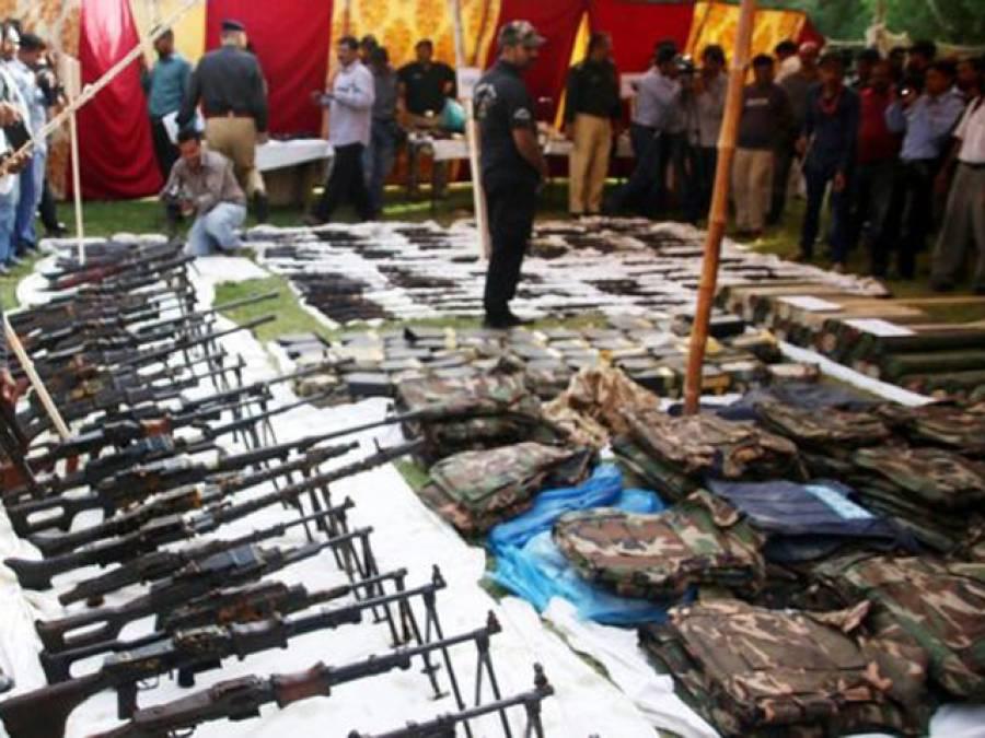 عزیز آباد سے برآمد اسلحہ کی تحقیقات کیلئے جے آئی ٹی بنانے کا فیصلہ