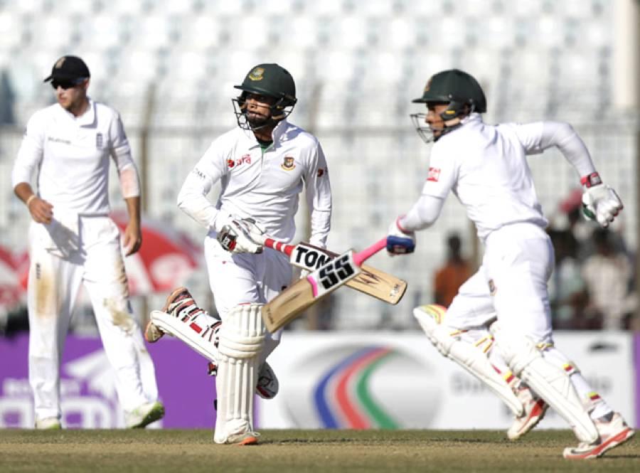 چٹاگانگ ٹیسٹ: میچ انتہائی سنسنی خیز مرحلے میں داخل، بنگلہ دیش تاریخی فتح سے 33 رنز دور، انگلینڈ کو 2 وکٹیں درکار