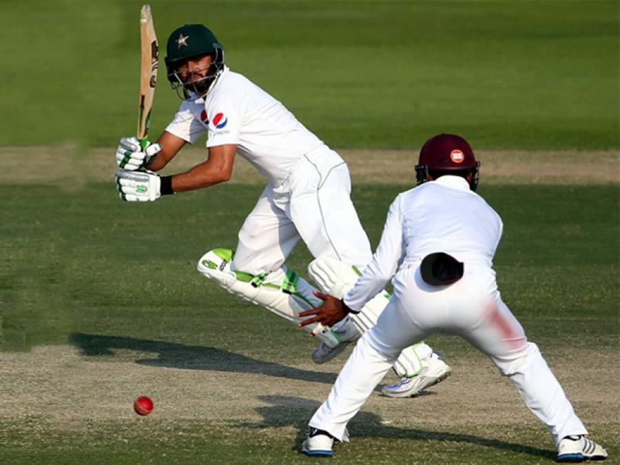ابوظہبی ٹیسٹ: پاکستان کی دوسری اننگز 227 رنز 2 کھلاڑی آﺅٹ پر ڈکلیئر، ویسٹ انڈیز کو جیت کیلئے 456 رنز کا ہدف