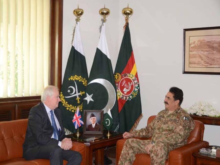 آرمی چیف جنرل راحیل شریف سے برطانوی مشیر قومی سلامتی کی ملاقات ،باہمی دلچسپی کے امور پر تبادلہ خیال