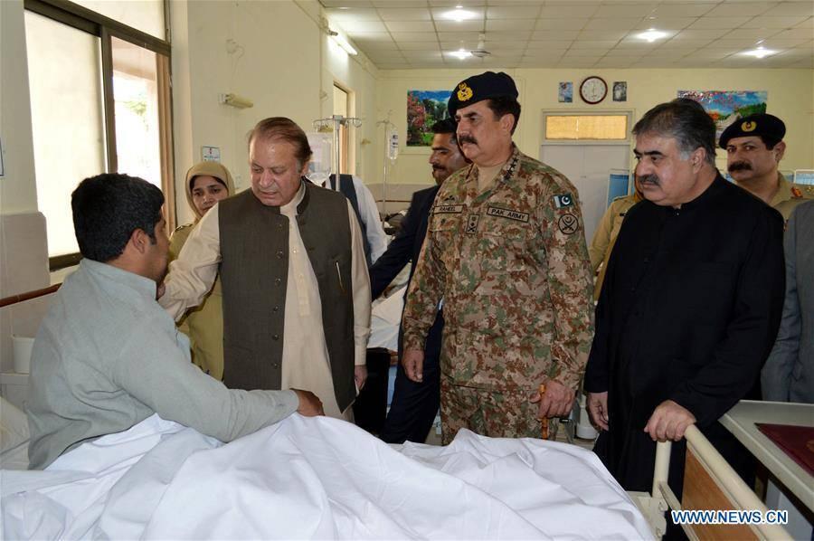 سانحہ کوئٹہ ،وزیر اعظم نواز شریف اور آرمی چیف راحیل شریف ہسپتال پہنچ گئے ،زخمی اہلکاروں کی عیادت