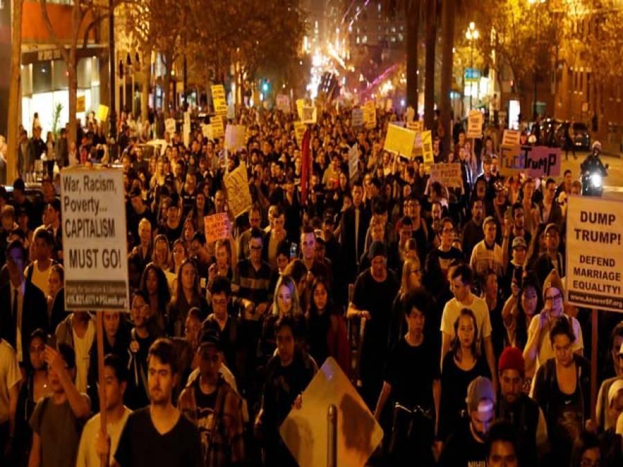 امریکہ میں گلی گلی مظاہرے پھوٹ پڑے ،لاکھوں امریکی سڑکوں پر آگئے