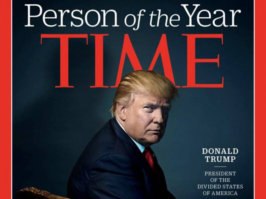 ہیلری پھر ناکام، ٹائم میگزین نے نومنتخب امریکی صدر ٹرمپ کو سال کی متاثر کن شخصیت قرار دے دیا