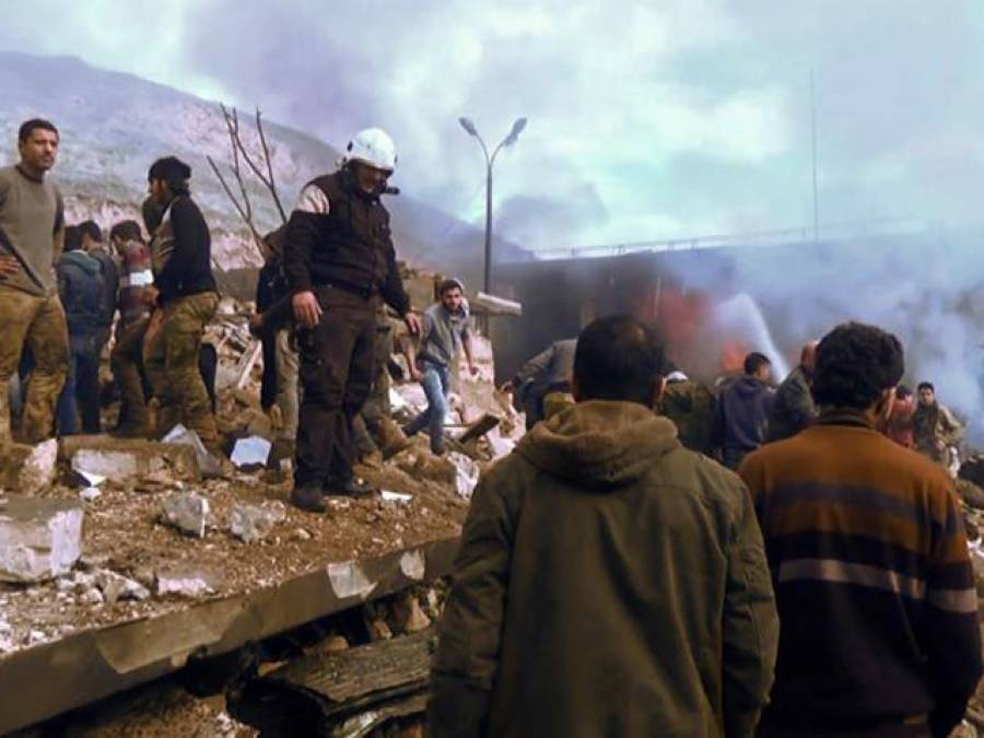شام کے شمالی شہر عزاز میں کار بم دھماکے میں60افراد جاں بحق ،50سے زائد زخمی