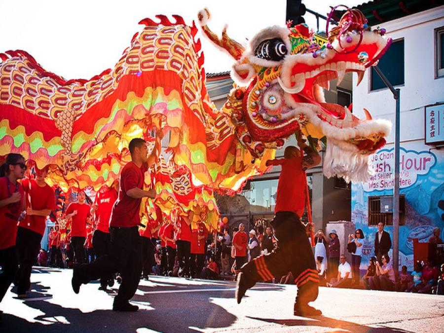 چینی قمری سال کی آمد پردلچسپ تقریبات کا آغاز