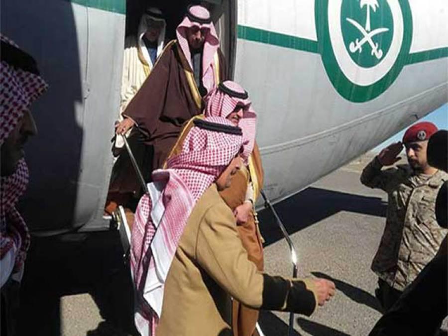 سعودی گورنر 'تلور 'کے شکار کیلئے پاکستان پہنچ گئے