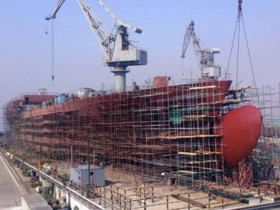 چین کے تعاون سے دفاعی آلات سے لیس بحری جہاز کی تیاری شروع