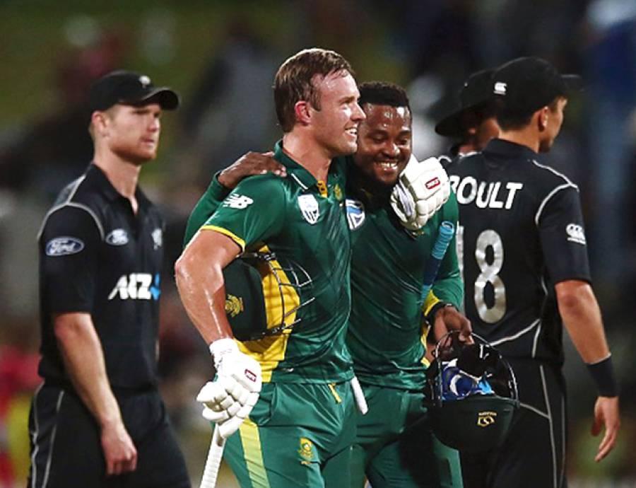 پہلا ون ڈے: جنوبی افریقہ نے سنسنی خیز مقابلے کے بعد نیوزی لینڈ کو 4 وکٹوں سے شکست دیدی
