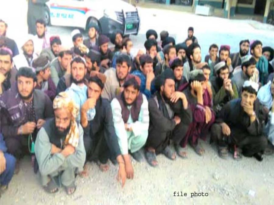 کوئٹہ پولیس کا کریک ڈاﺅن،35 افغان باشندے گرفتار