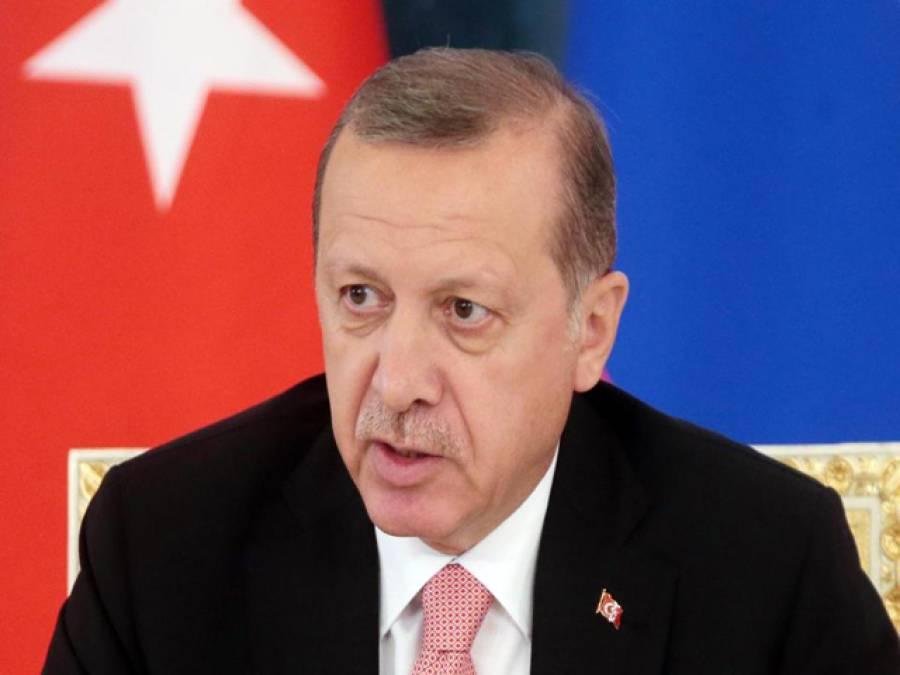 ترک صدر نے ہالینڈ پر پابندی کا مطالبہ کردیا