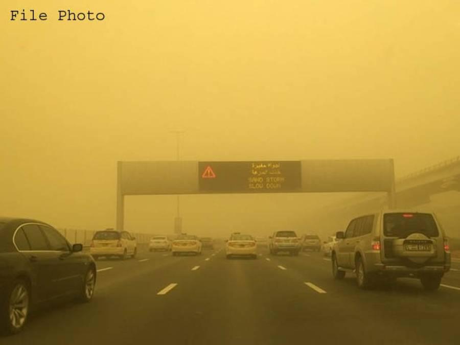 دبئی ،شارجہ اور عجمان سمیت گردونواح میں گردو غبار کا طوفان، دبئی کا گلوبل ولیج آج کیلئے بند کر دیاگیا