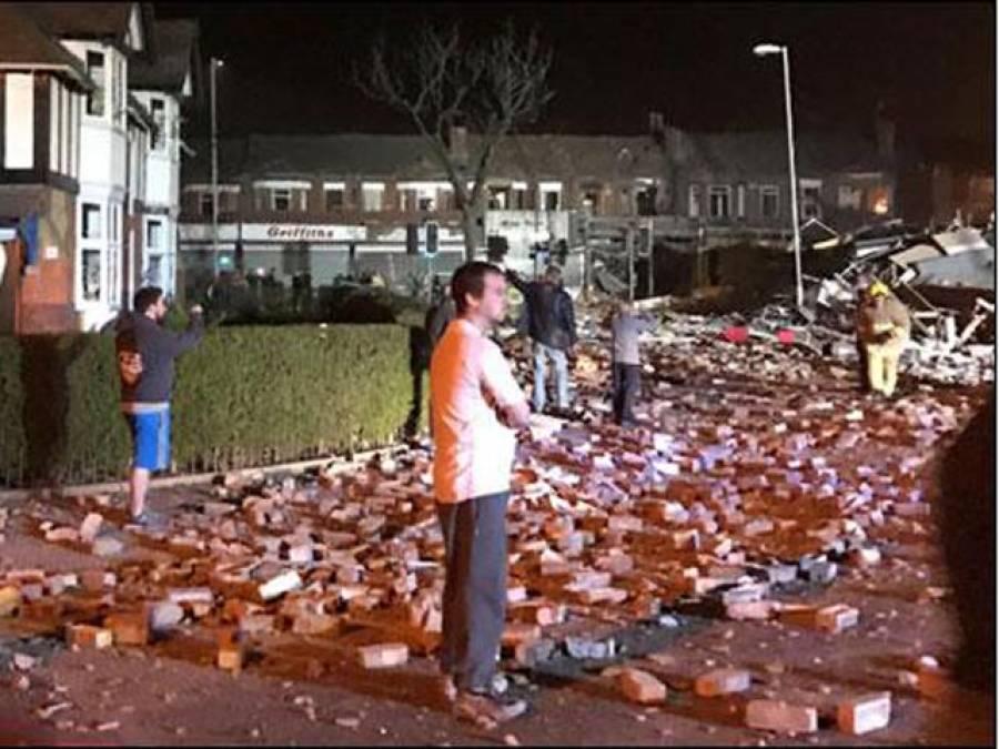 برطانیہ کی کاﺅنٹی میسی سائیڈ میں فرنیچر کی دکان میں گیس لیکج کے بعد دھماکے سے عمارت منہدم ، 32افراد زخمی