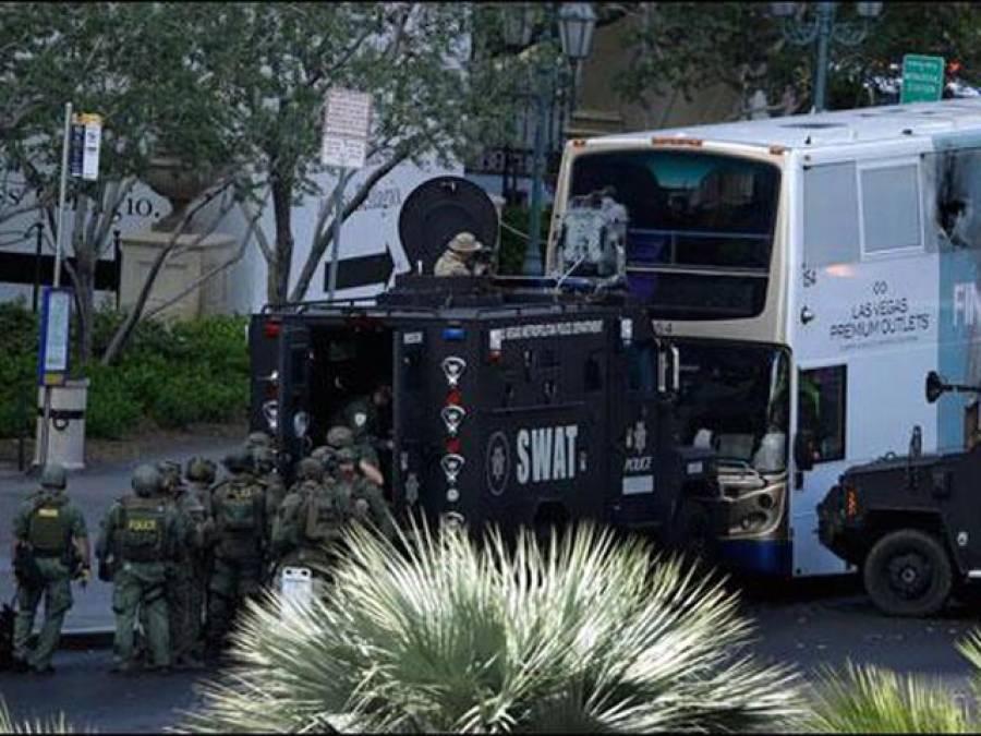 امریکی شہر لاس ویگاس میں بس کے اندر فائرنگ سے 1شخص ہلاک ، دوسرا زخمی