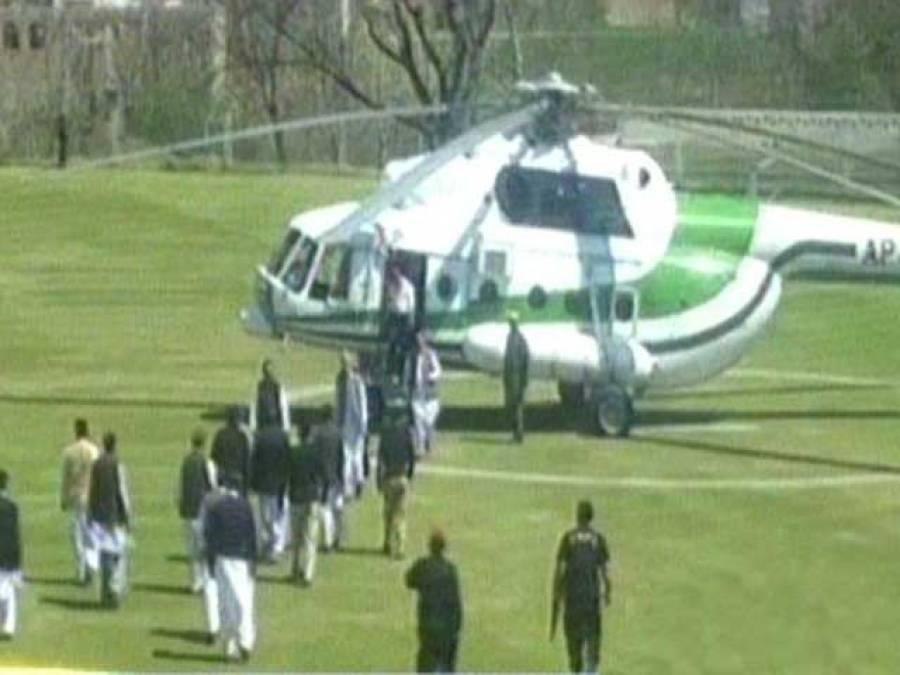 پرویز خٹک کا ہیلی کاپٹر اتارنے کیلئے پی سی بی انڈر 13 ٹرائل رکوا دیئے گئے