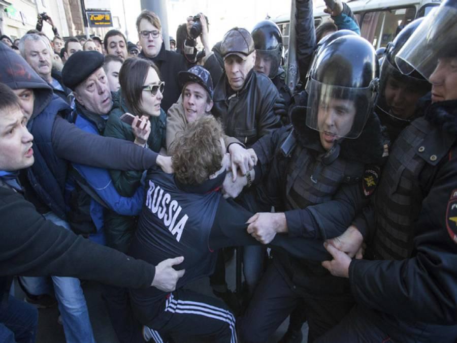 روسی عوام کا کرپشن کیخلاف احتجاج،وزیراعظم سے استعفیٰ کا مطالبہ