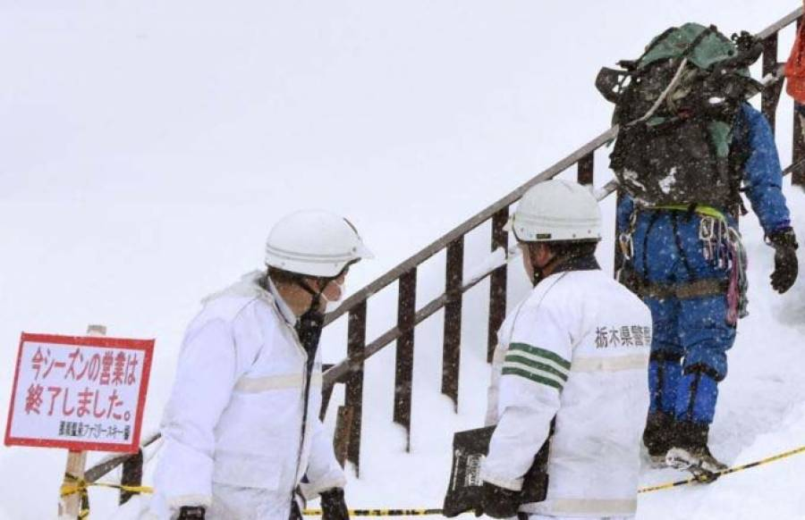 جاپان میں برفانی تودہ گرنے سے8طلبہ ہلاک