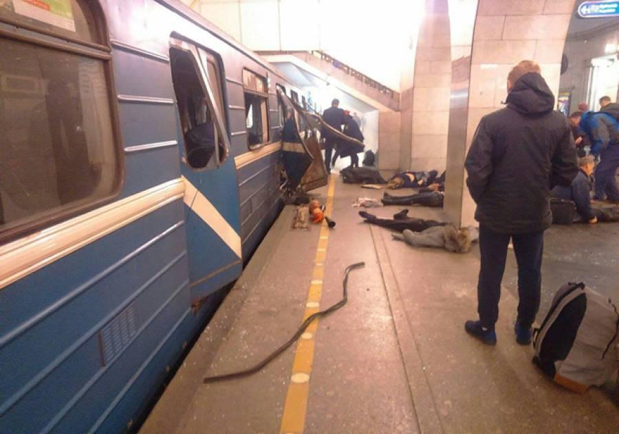 روسی صدر کی بیلاروسی ہم منصب سے ملاقات سے چند لمحے قبل سینٹ پیٹرز برگ کی زیر زمین ٹرین میں دھماکہ، 10 افراد ہلاک، متعدد زخمی