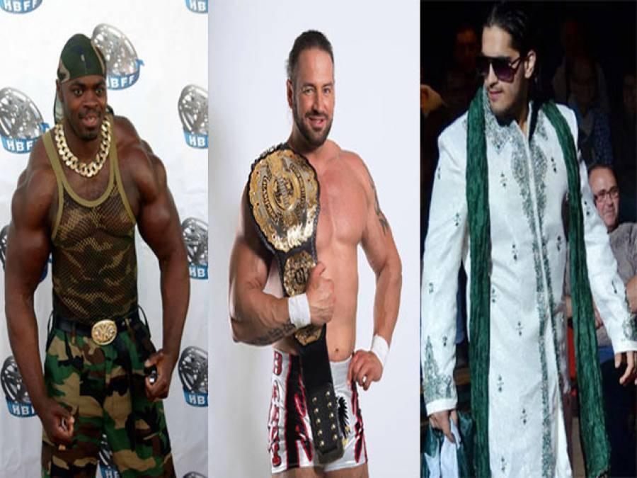 ریسلنگ مقابلوں کی پروموشن تقریب میں شرکت کیلئے 3 غیر ملکی ریسلرز پاکستان پہنچ گئے