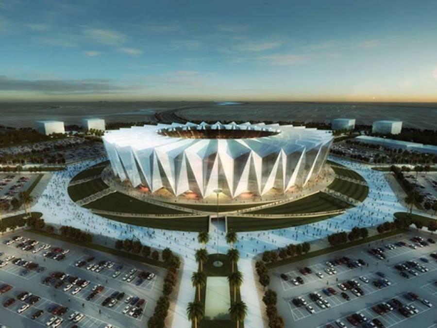 بحریہ ٹاﺅن میں پاکستان کے سب سے بڑے کرکٹ سٹیڈیم کی تعمیر شروع، ڈیزائن کی تصاویر سوشل میڈیا پر آئیں تو پوری دنیا میں ہلچل مچ گئی، پاکستانی خوشی سے جھوم اٹھے