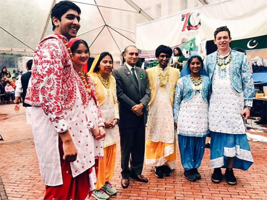 پاکستانی سفارتخانے میں ڈی سی پاسپورٹ تقریبات کا آغاز،پاک امریکا دوستی کے 70سال کی رنگا رنگ تقریب کا انعقاد