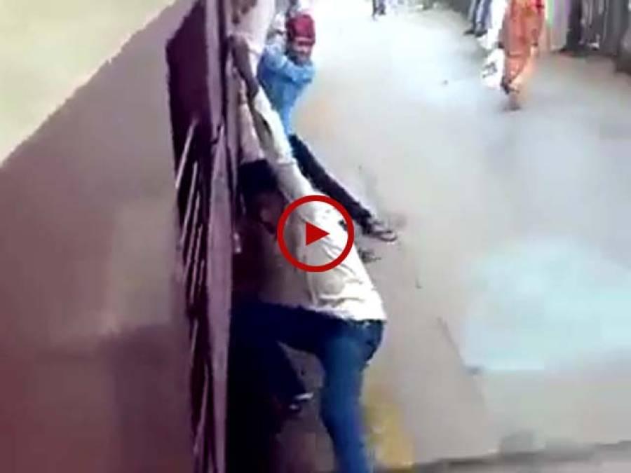 کیا ایسا کرنا ٹھیک ہے۔ایک بار آپ بھی اس نوجوان کی جان لیوا حرکات کی ویڈیو دیکھ لیں۔ ویڈیو: صفدر خان۔ میانوالی