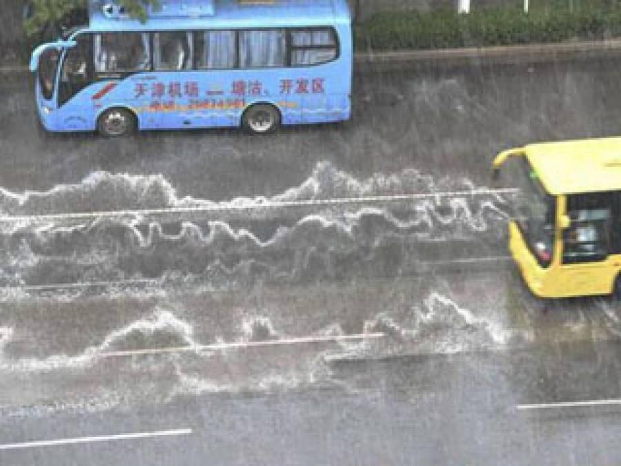 چین طوفانی موسلادھاربارشوں کے باعث 6افراد لاپتہ