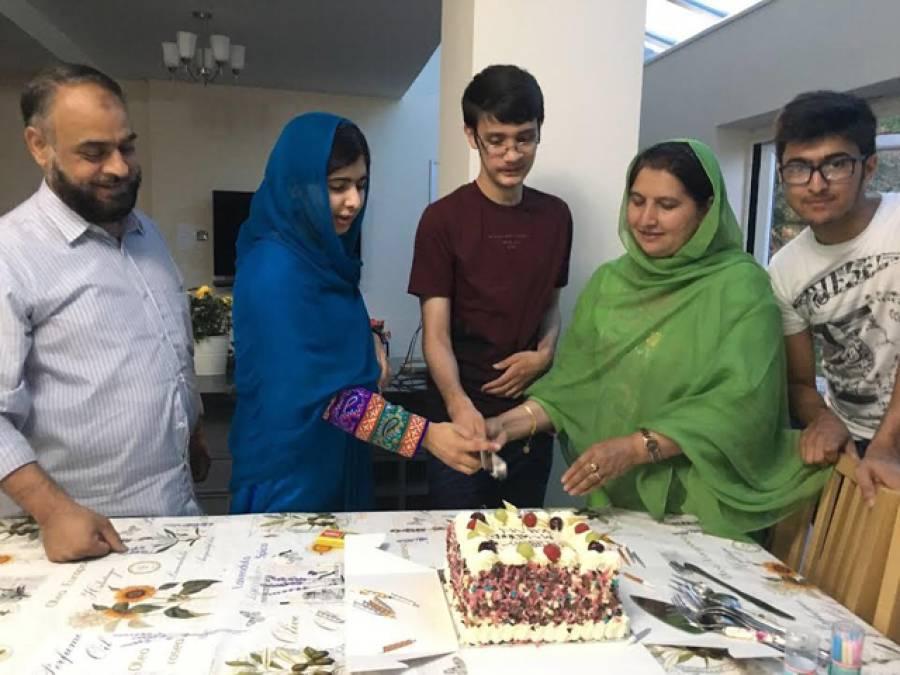 ملالہ یوسف زئی نے اے پی ایس پشاور کے بہادر طالب علم ولید کی سالگرہ کا کیک کاٹا