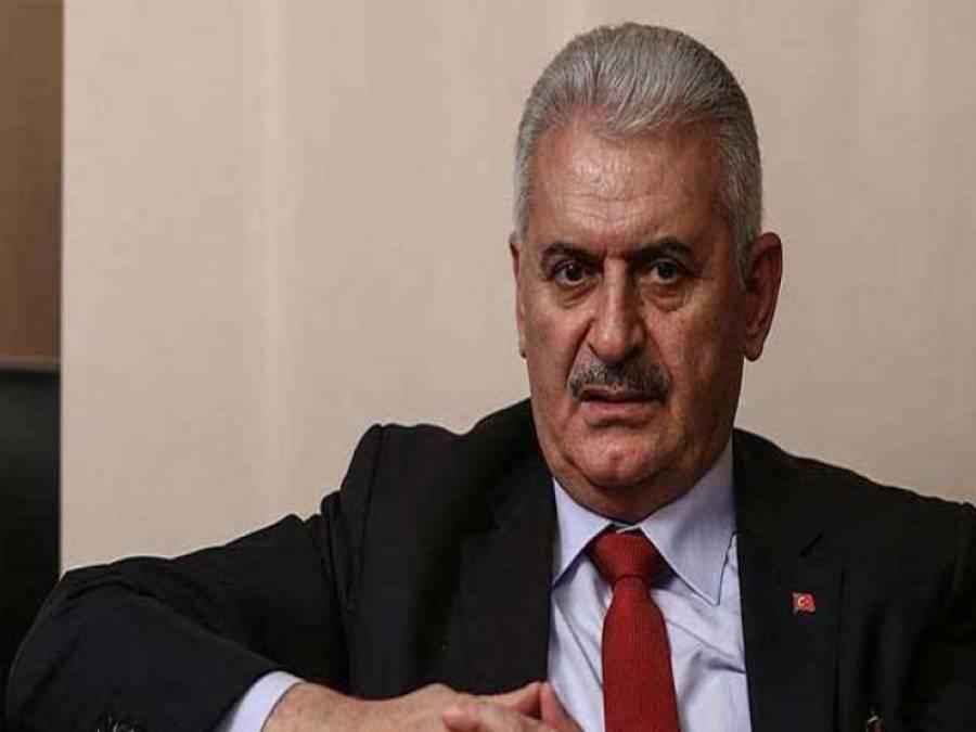 شام اورعراق کی سرحدوں پرکسی نئی مصنوعی مملکت کے قیام کی ہرگزاجازت نہیں دی جائے گی:ترک وزیراعظم