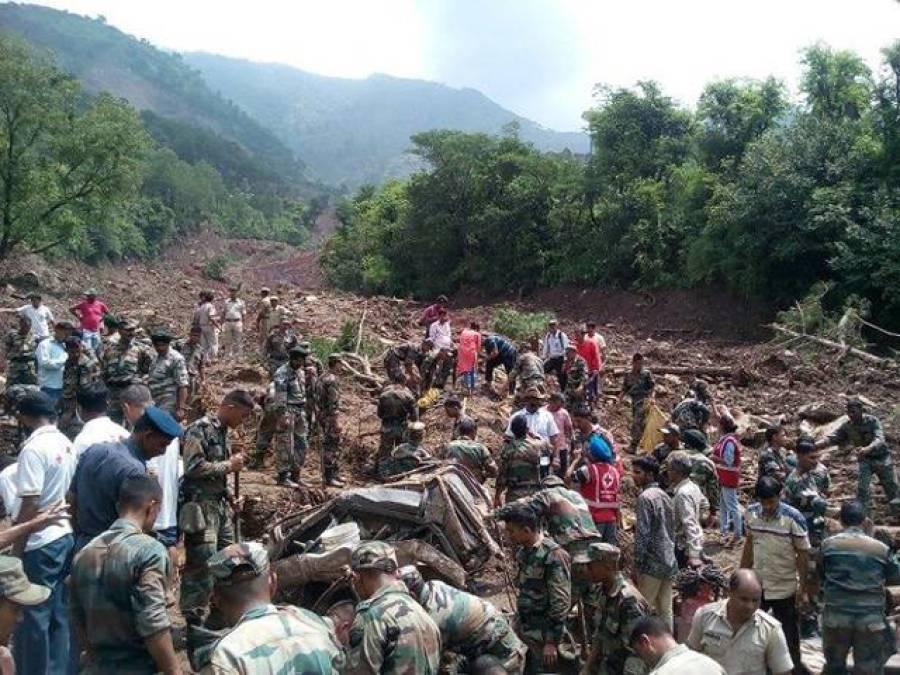 بھارت میں لینڈ سلائیڈنگ، 46افراد ہلاک ، درجنوں لاپتہ