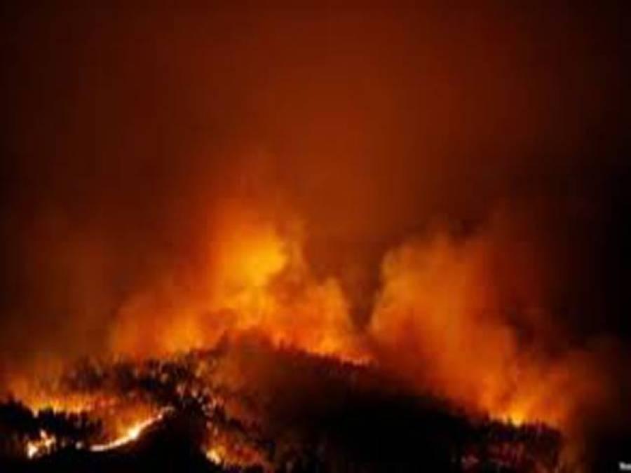 کراچی میں کھڑے آئل ٹینکر میں آگ لگ گئی