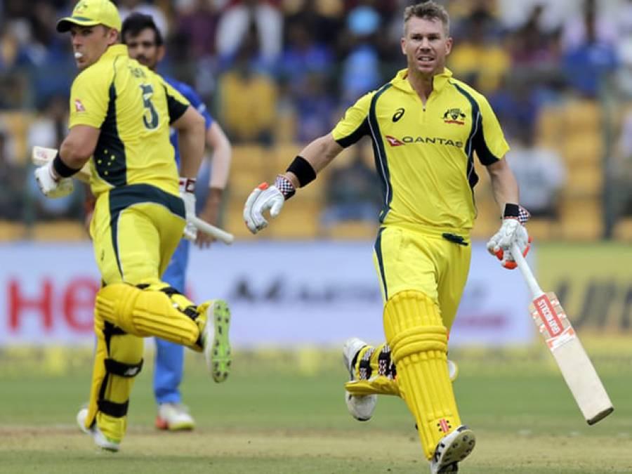آسٹریلیا نے چوتھے ون ڈے میچ میں بھارت کو دلچسپ مقابلے کے بعد 21رنز سے شکست دے دی