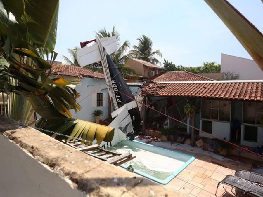 برازیل میں چھوٹا طیارہ گرکر تباہ، 3 افراد ہلاک