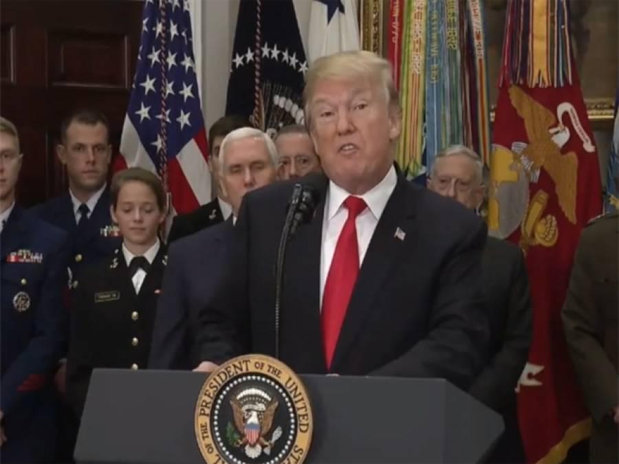 ڈونلڈ ٹرمپ نے 700 ارب ڈالر کے دفاعی بجٹ کے پالیسی بل پر دستخط کردیے
