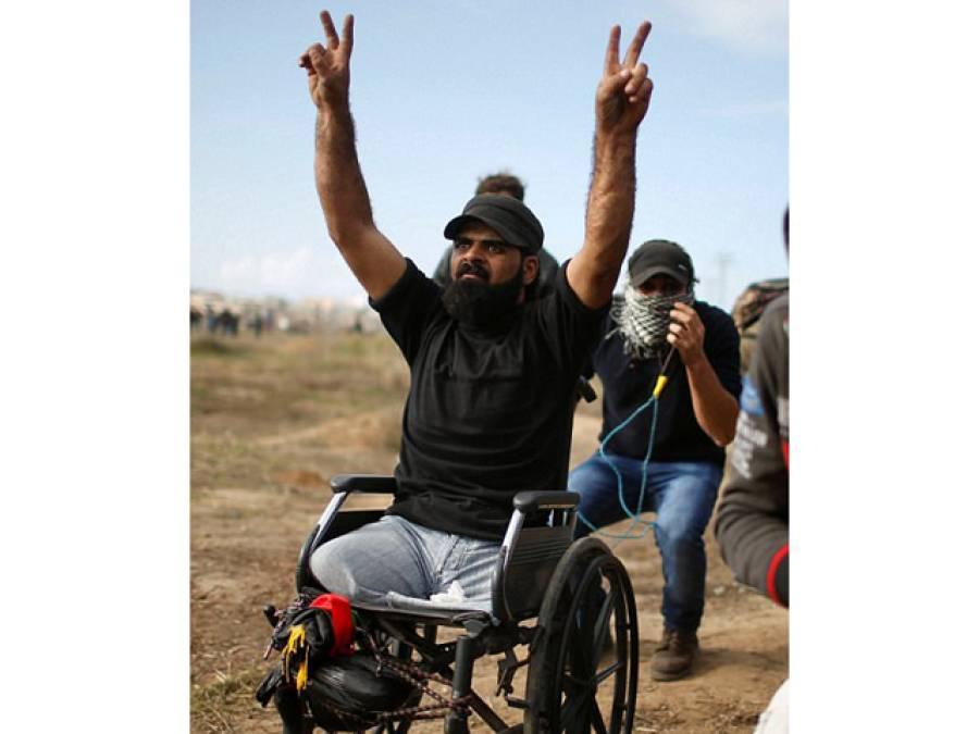دونوں ٹانگوں سے معذور احتجاج کرتے اِس فلسطینی شہری کو اسرائیلی فوج نے اِس احتجاج کی کیا سزا دی؟ جان کر دنیا کے ہر مسلمان کا خون کھول اُٹھے