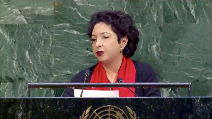 """""""امریکہ کہ بتانا چاہتے ہیں کہ دنیا """"اقوام متحدہ کے اجلاس میں پاکستان نے زور دار بیان دے دیا ،ایسی بات کہہ دی کہ امریکہ نے کبھی سوچا بھی نہ ہو گا"""