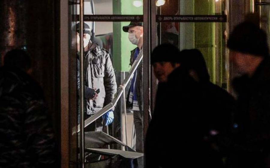 روس کے شہر سینٹ پیٹرز برگ میں دھماکے سے 10 افراد زخمی