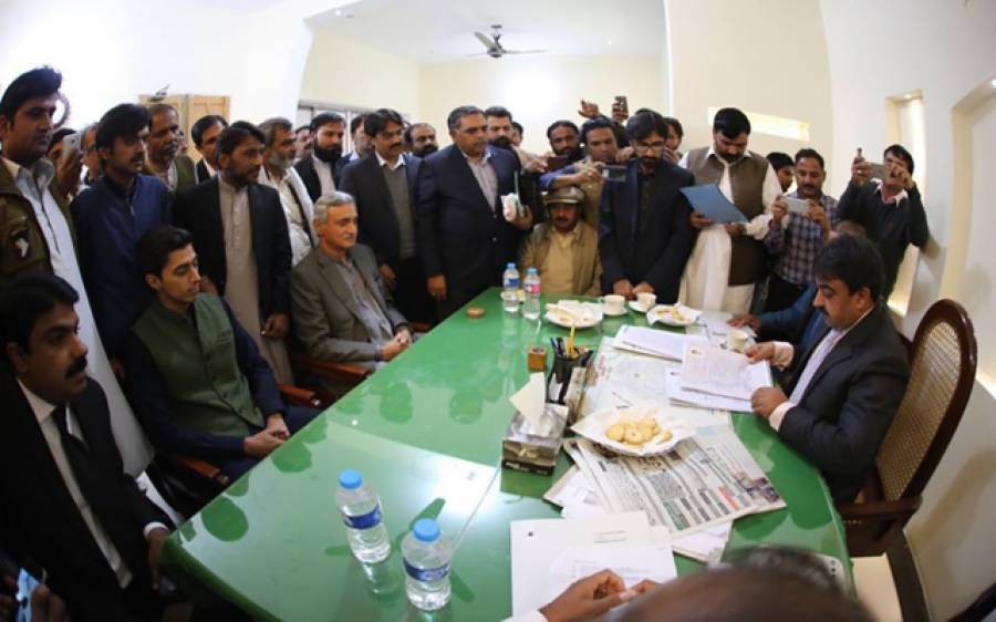 این اے 154 ضمنی الیکشن، علی ترین نے کاغذات نامزدگی الیکشن کمیشن میں جمع کرا دیئے