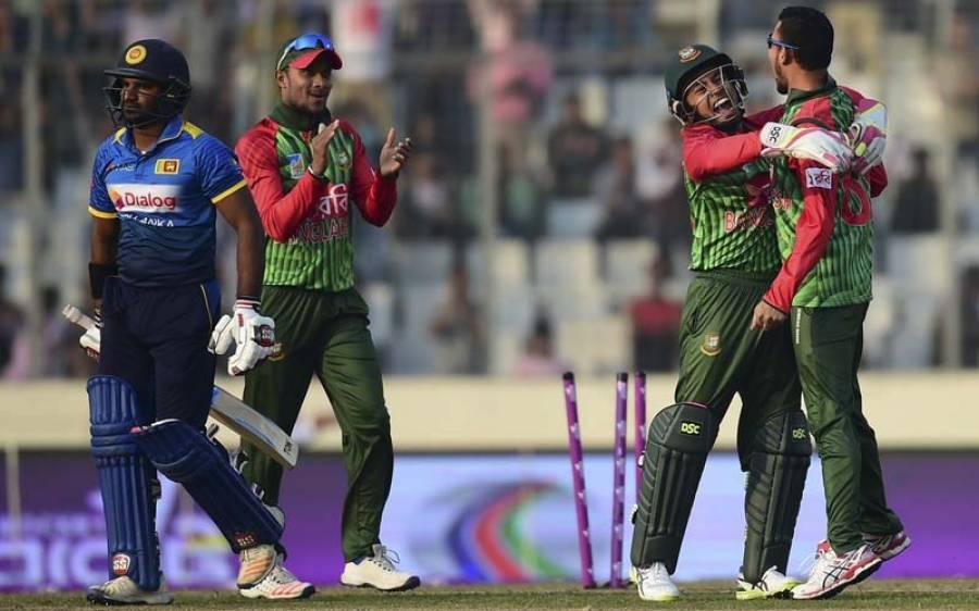 تین ملکی سیریز ،بنگلہ دیش نے سری لنکا کو 163رنز سے شکست دے دی