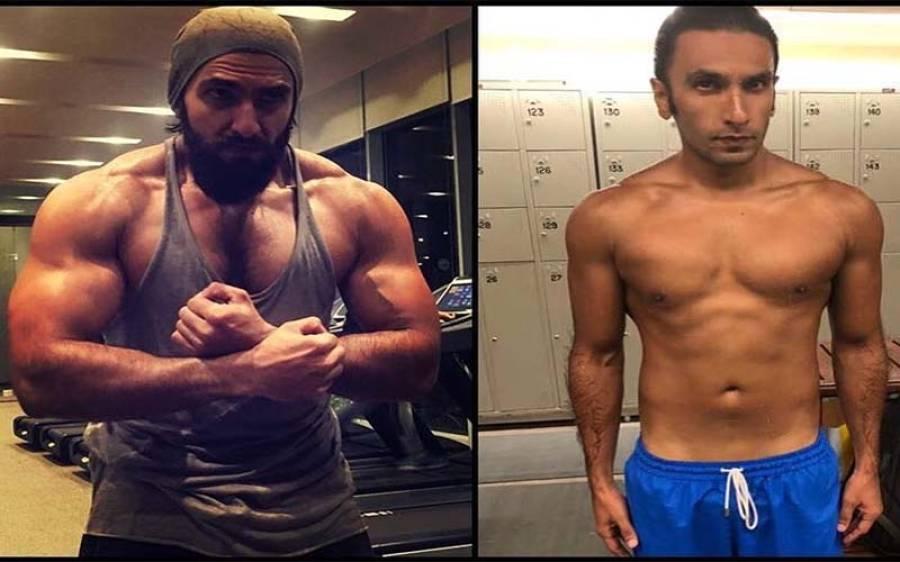 رنویر سنگھ نے وزن کم کرنے میں عامر خان کو بھی پیچھے چھوڑ دیا ،فلم 'پد ماوت 'کے اس روپ کے بعد اب کیسے دکھتے ہیں ؟تصویر دیکھ کر آپ پہنچان ہی نہیں پائیں گے