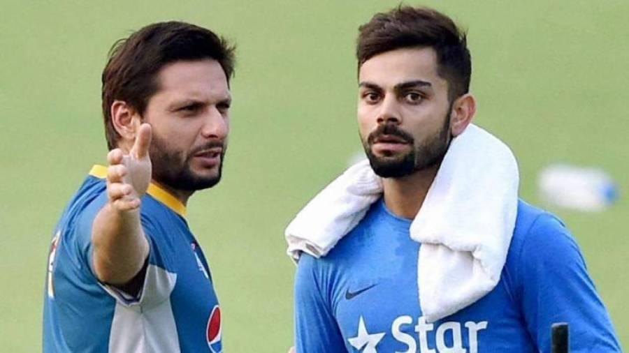 شاہد آفریدی نے بھارتی کپتان ویرات کوہلی کیلئے ایسا بیان جاری کر دیا سن کر انوشکا شرما بھی خوشی سے اچھل پڑیں گی