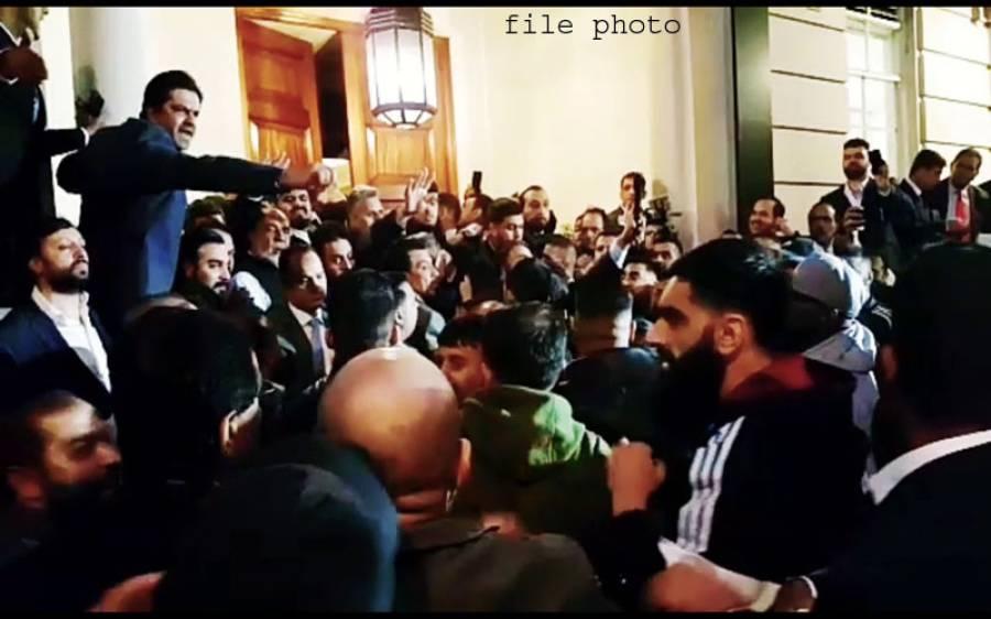 مسلم لیگ ن کے مرکزی جنرل کونسل کے اجلاس میں بدنظمی ،10لیگی کارکنان زخمی
