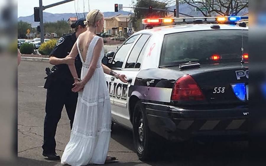 شادی کی تقریب پر جاتے ہوئے دلہن کو راستے میں ہی گرفتار کرلیا گیا کیونکہ۔۔۔