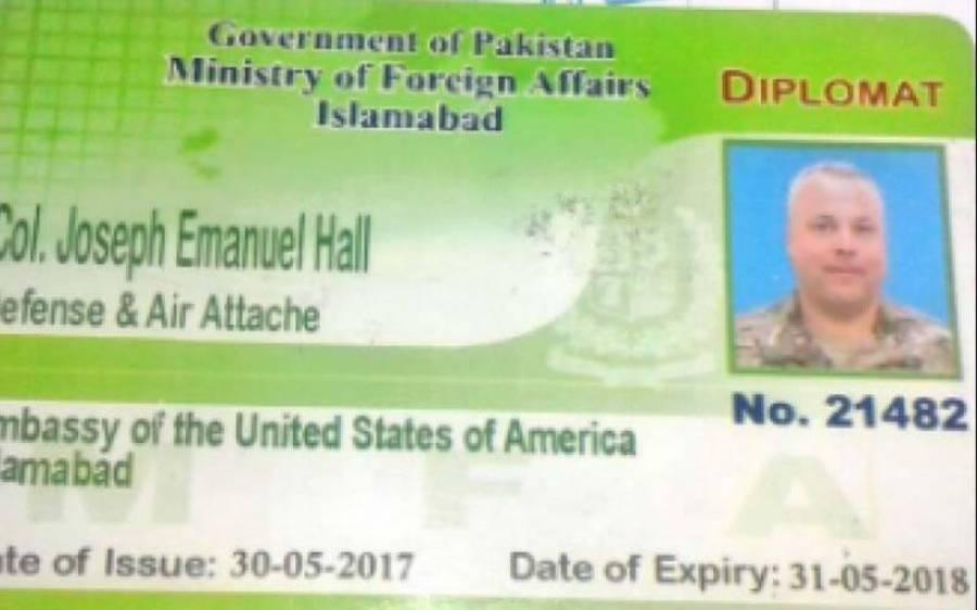 امریکی سفارتکار کی گاڑی کی ٹکرسے پاکستانی شہری کی ہلاکت،کرنل جوزف کا نام بلیک لسٹ میں شامل،نوٹیفکیشن عدالت میں پیش