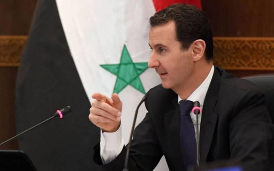 دہشتگردی کے خاتمے تک جنگ کوئی نہیں روک سکتا:شامی صدر