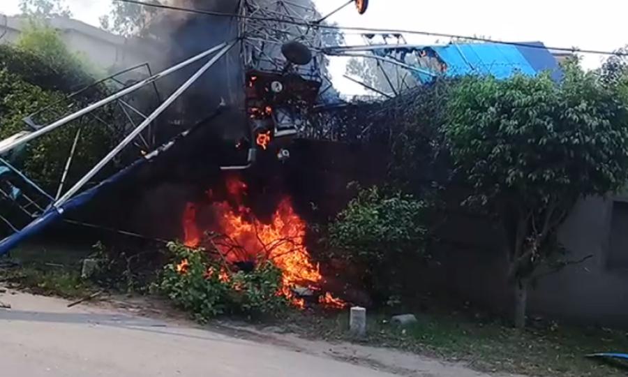 لاہور میں تربیتی طیارے کو حادثہ ،پائلٹ نے در اصل غلطی کیا کی ؟ایسا سوال اٹھ گیا کہ لاہوریوں کی نیندیں اڑ جائیں گی